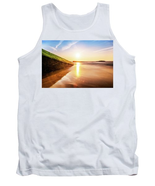 Tank Top featuring the photograph Touching The Golden Cloud by Thierry Bouriat