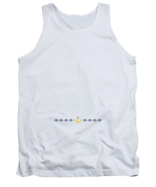 Treasure Knot With Yellow Anchor 2 Tank Top