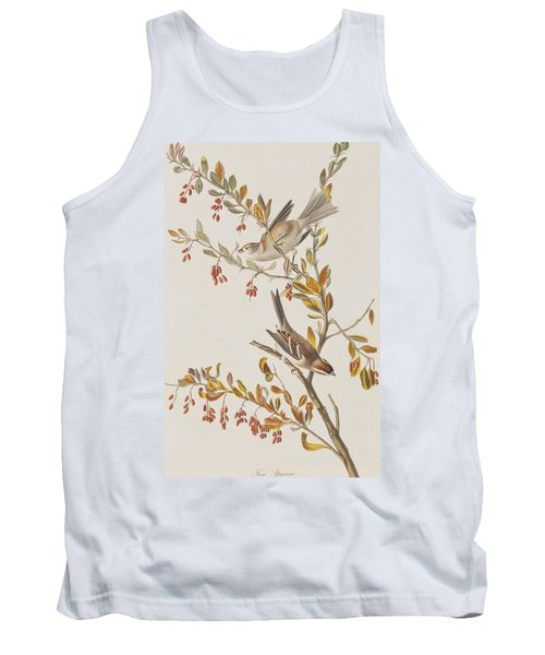 Tree Sparrow Tank Top by John James Audubon