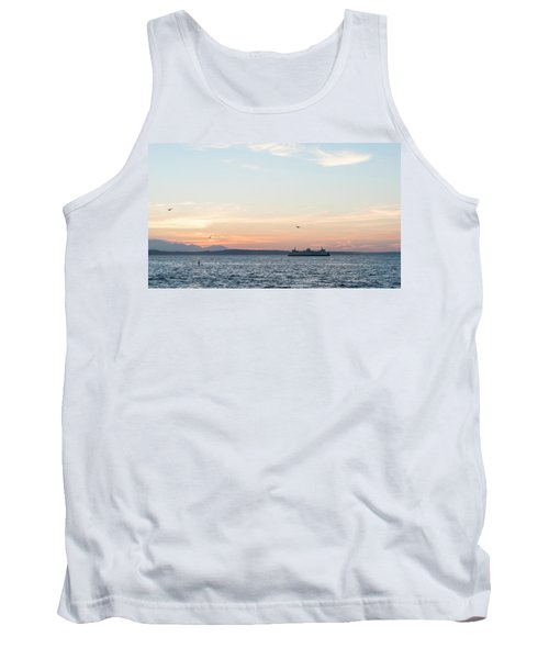 Twilight In Puget Sound Tank Top
