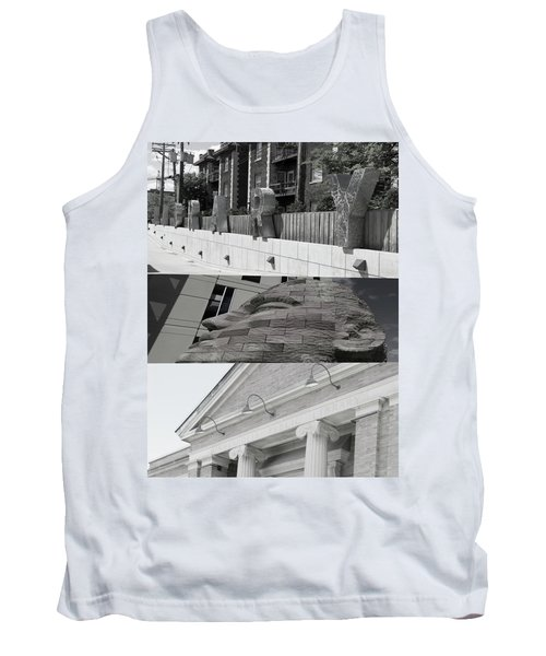 Tank Top featuring the photograph Uptown Library by Susan Stone