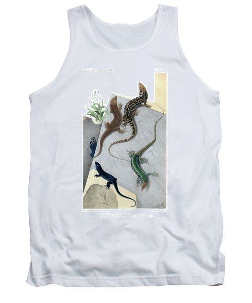 Varieties Of Wall Lizard Tank Top by Jacques von Bedriaga
