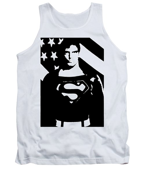 Tank Top featuring the digital art Waiting For Superman by Saad Hasnain