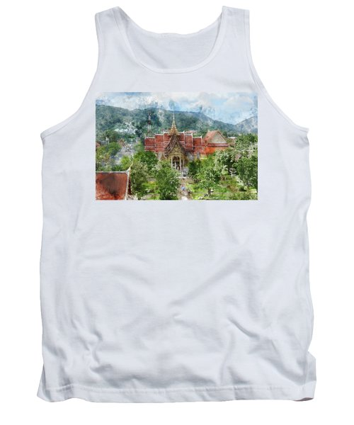 Wat Chalong In Phuket Thailand Tank Top