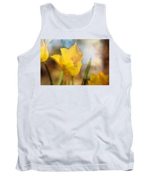 Water Lily Tulip Flower Tank Top