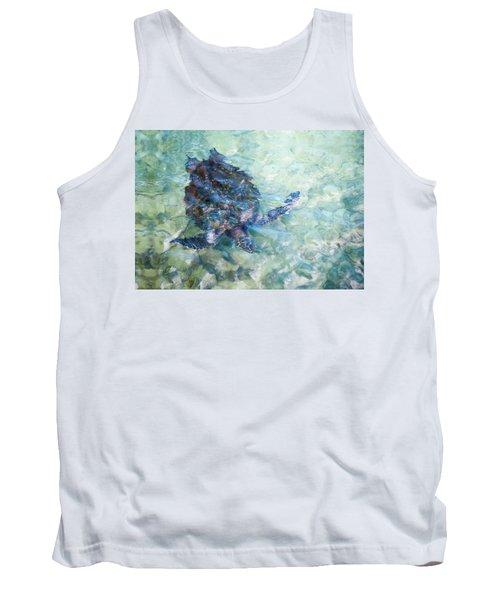 Watercolor Turtle Tank Top