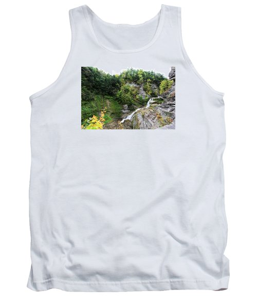Tank Top featuring the photograph Waterfall At Robert Treman State Park II by Trina  Ansel
