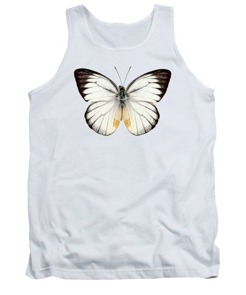 White Butterfly Species Delias Baracasa Tank Top