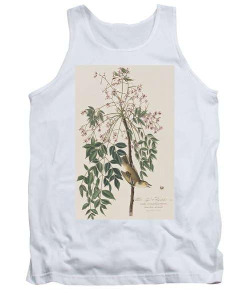 White-eyed Flycatcher Tank Top by John James Audubon