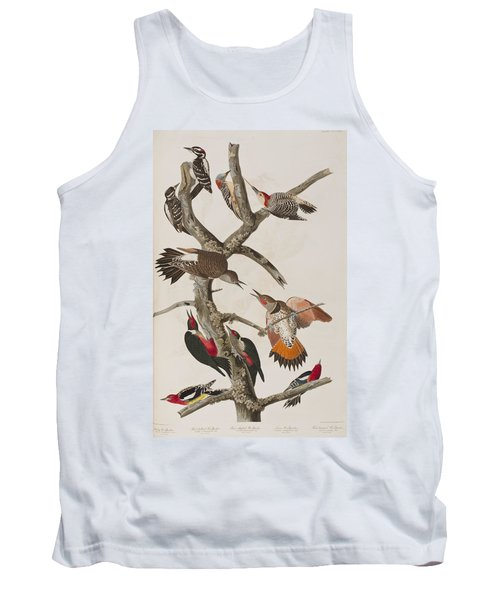 Woodpeckers Tank Top by John James Audubon