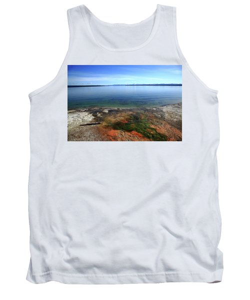 Tank Top featuring the photograph Yellowstone Lake Colors by Frank Romeo