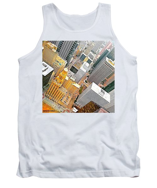 Yesterday's #birdseyeview Of #downtown Tank Top