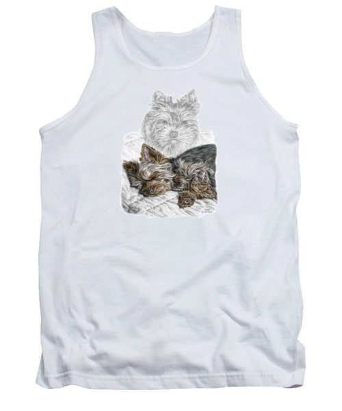 Tank Top featuring the drawing Yorkie - Yorkshire Terrier Dog Print by Kelli Swan