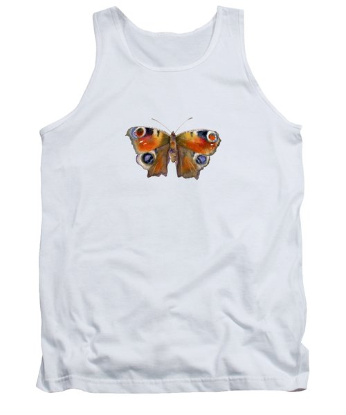 10 Peacock Butterfly Tank Top
