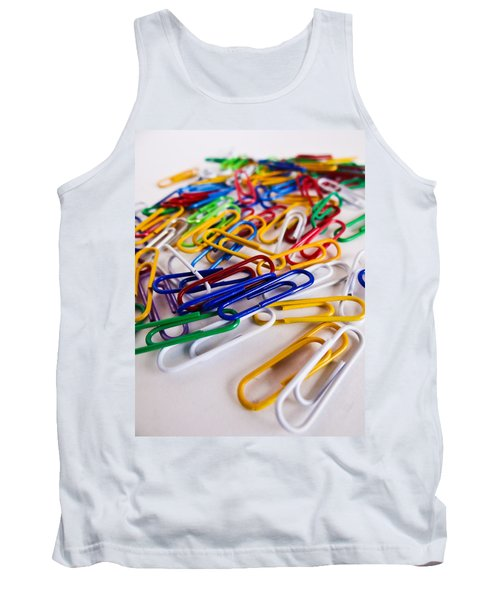 100 Paperclips Tank Top by Julia Wilcox