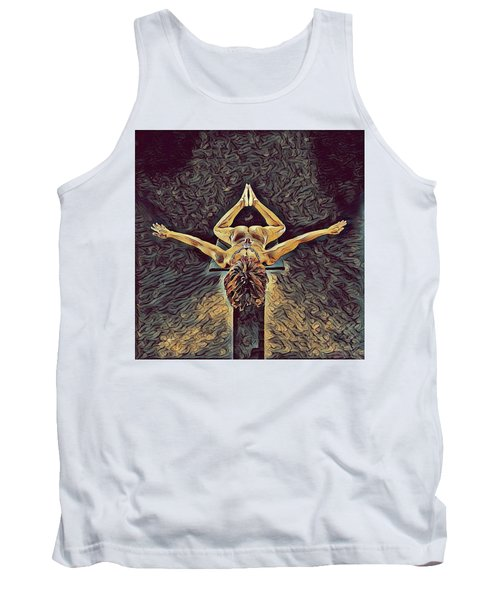 1038s-zac Dancer Flying On Pedestal Nudes In The Style Of Antonio Bravo  Tank Top