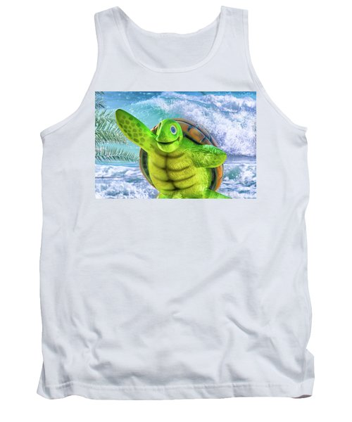 10731 Myrtle The Turtle Tank Top by Pamela Williams
