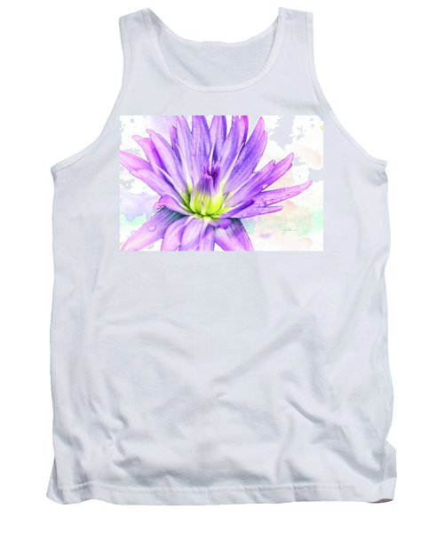 10889 Purple Lily Tank Top by Pamela Williams