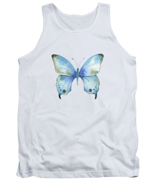 #109 Blue Diana Butterfly Tank Top