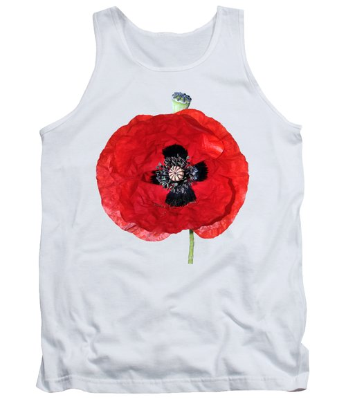 Tank Top featuring the photograph Poppy Flower by George Atsametakis