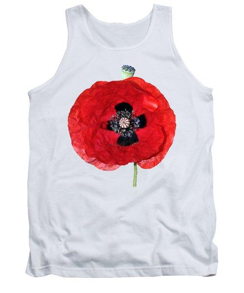 Poppy Flower Tank Top