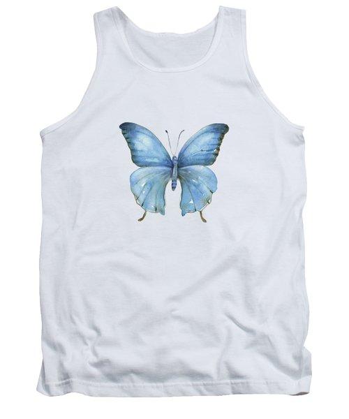 111 Blue Elijah Butterfly Tank Top