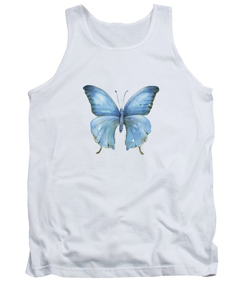 111 Blue Elijah Butterfly Tank Top