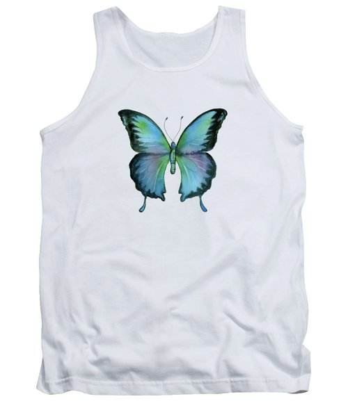 12 Blue Emperor Butterfly Tank Top