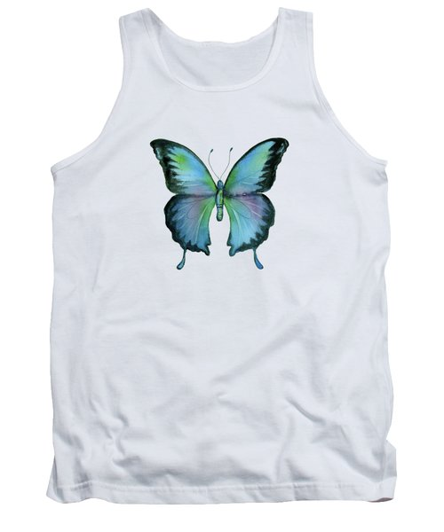 12 Blue Emperor Butterfly Tank Top