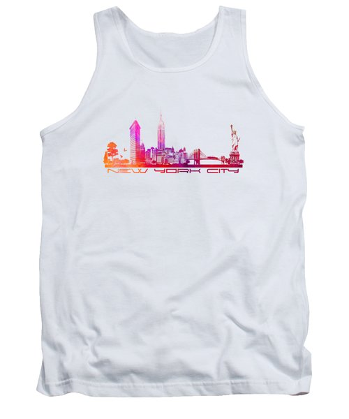 New York City Skyline Tank Top by Justyna JBJart