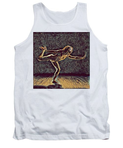 Tank Top featuring the digital art 1262s-zac Nude Dancer Ams Out In The Style Of Antonio Bravo  by Chris Maher