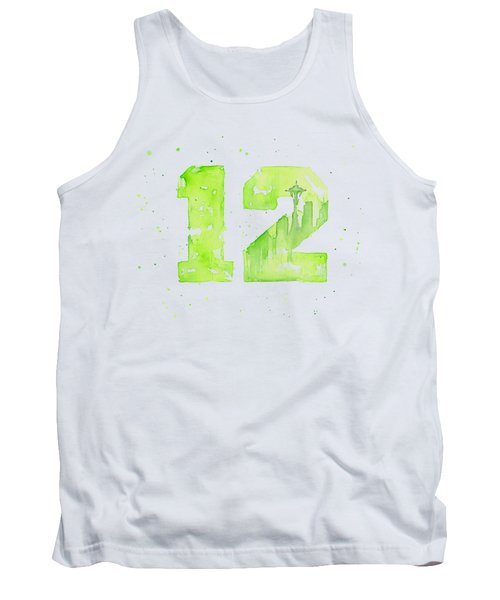 12th Man Seahawks Art Go Hawks Tank Top