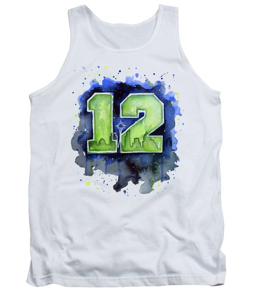 12th Man Seahawks Art Seattle Go Hawks Tank Top