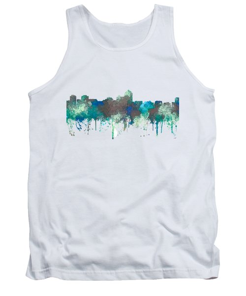 Tank Top featuring the digital art Albuquerque New Mexico Skyline by Marlene Watson