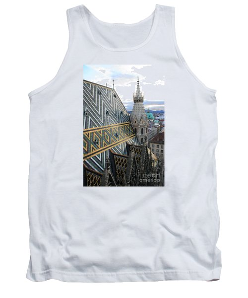 St Stephens Cathedral Vienna Tank Top by Angela Rath