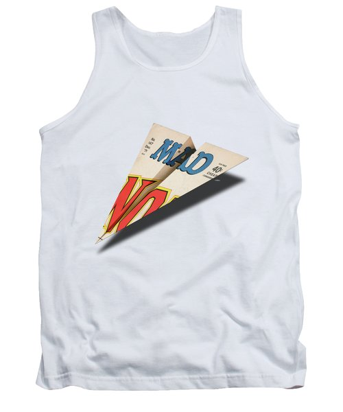 147 Mad Paper Airplane Tank Top