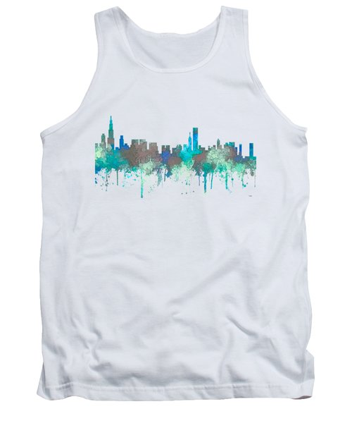 Tank Top featuring the digital art Chicago Illinois Skyline by Marlene Watson