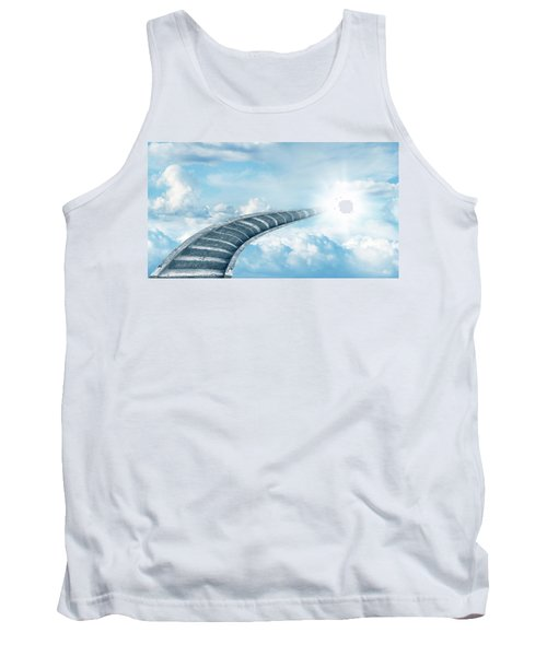 Tank Top featuring the digital art Stairway To Heaven by Les Cunliffe