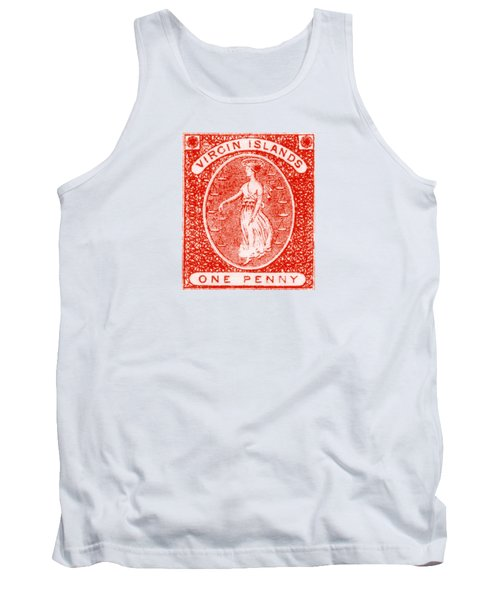 Tank Top featuring the painting 1858 Virgin Islands Stamp by Historic Image