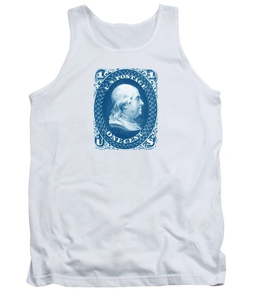 Tank Top featuring the painting 1861 Benjamin Franklin Stamp by Historic Image
