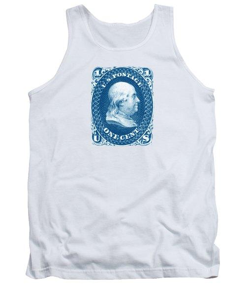 1861 Benjamin Franklin Stamp Tank Top by Historic Image