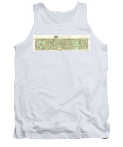 1870 Vaux And Olmstead Map Of Central Park New York City Tank Top