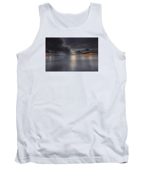 Sunst Over The Ocean Tank Top by Peter Lakomy