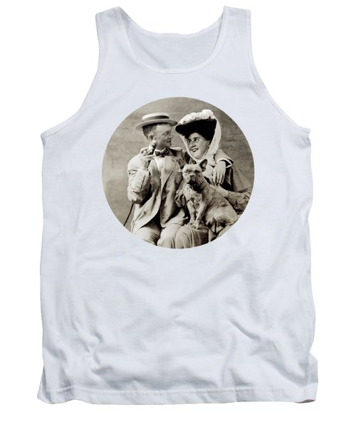 1900 Happy Young Couple Tank Top