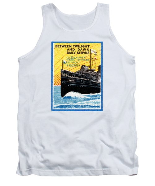 1910 Detroit To Buffalo Steamship Tank Top