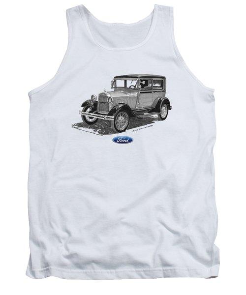 Model A Ford 2 Door Sedan Tank Top by Jack Pumphrey