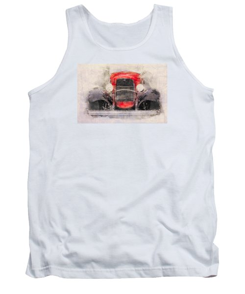 1932 Ford Roadster Red And Black Tank Top