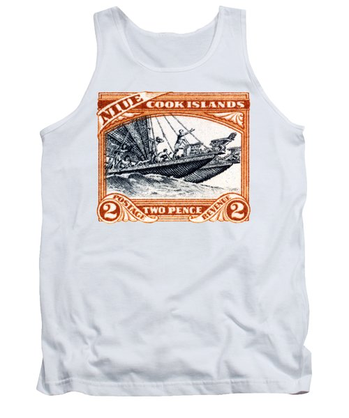 Tank Top featuring the painting 1932 Niue Island Stamp by Historic Image