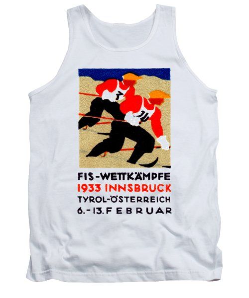 1933 Austrian Ski Race Poster Tank Top
