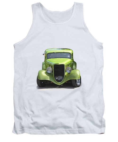 1934 Ford Street Hot Rod On A Transparent Background Tank Top by Terri Waters